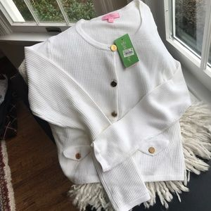 Lilly Pulitzer white Donnie cardigan